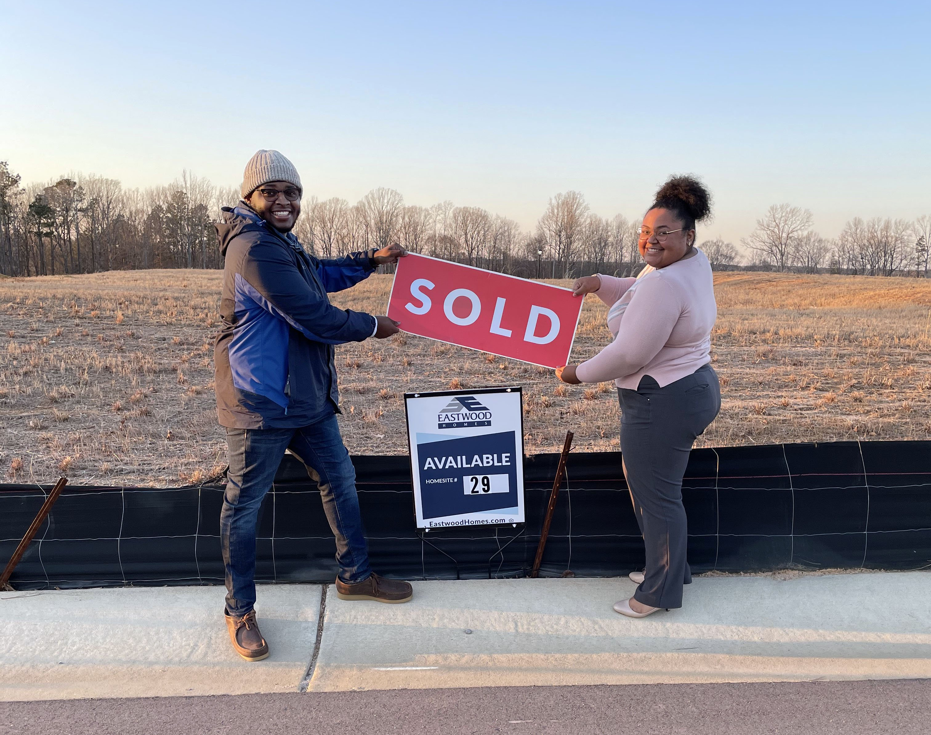 New home buyers in our River Oaks community