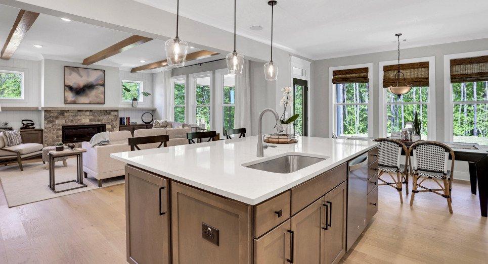 Photo of kitchen of Roanoke model