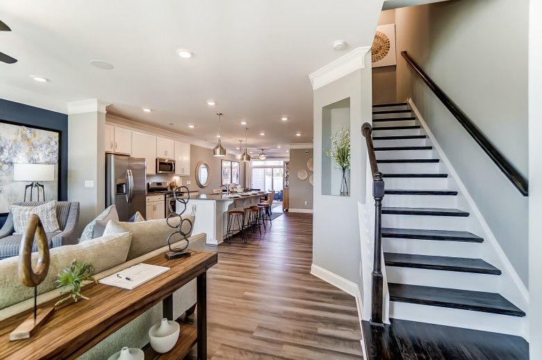 Denton Townhome Model at The Enclave at Davis Lakes Townhomes