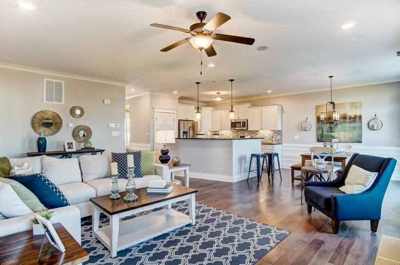Atherton Family Room and Kitchen