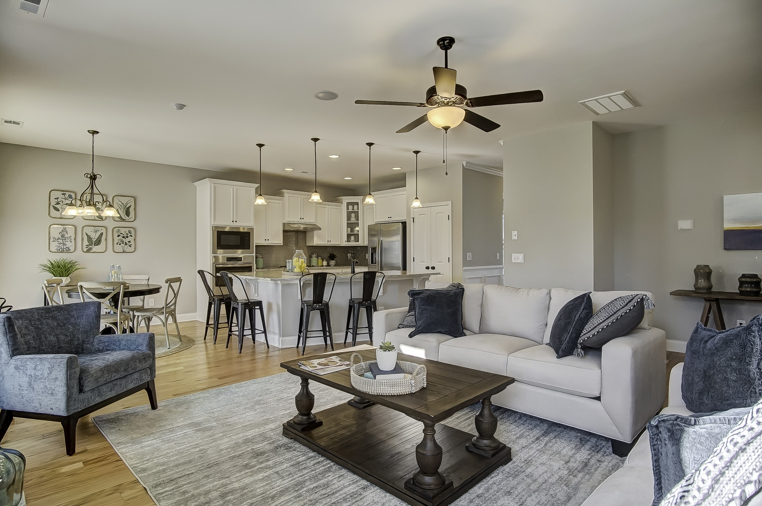 Cypress III Family Room and Kitchen