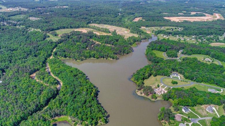 Hidden Lake Aerial View