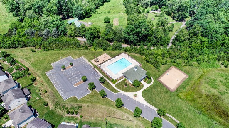 Kinderton Aerial Pool View