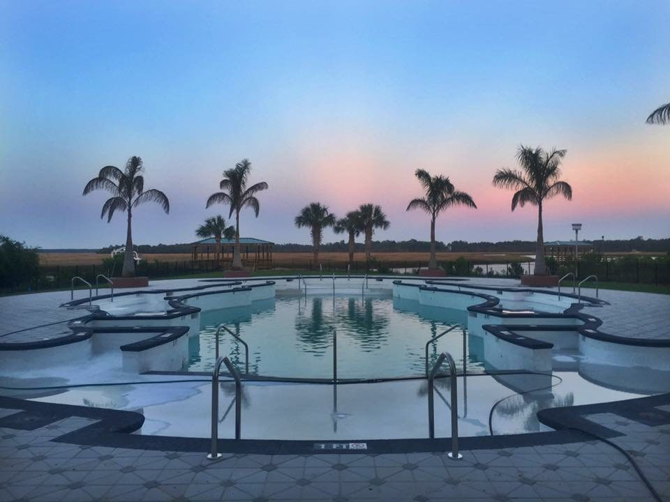 Landings at Sweetwater Pool at Twilight