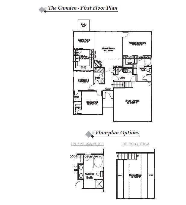 Camden Floor Plan Highland Park Eastwood Homes