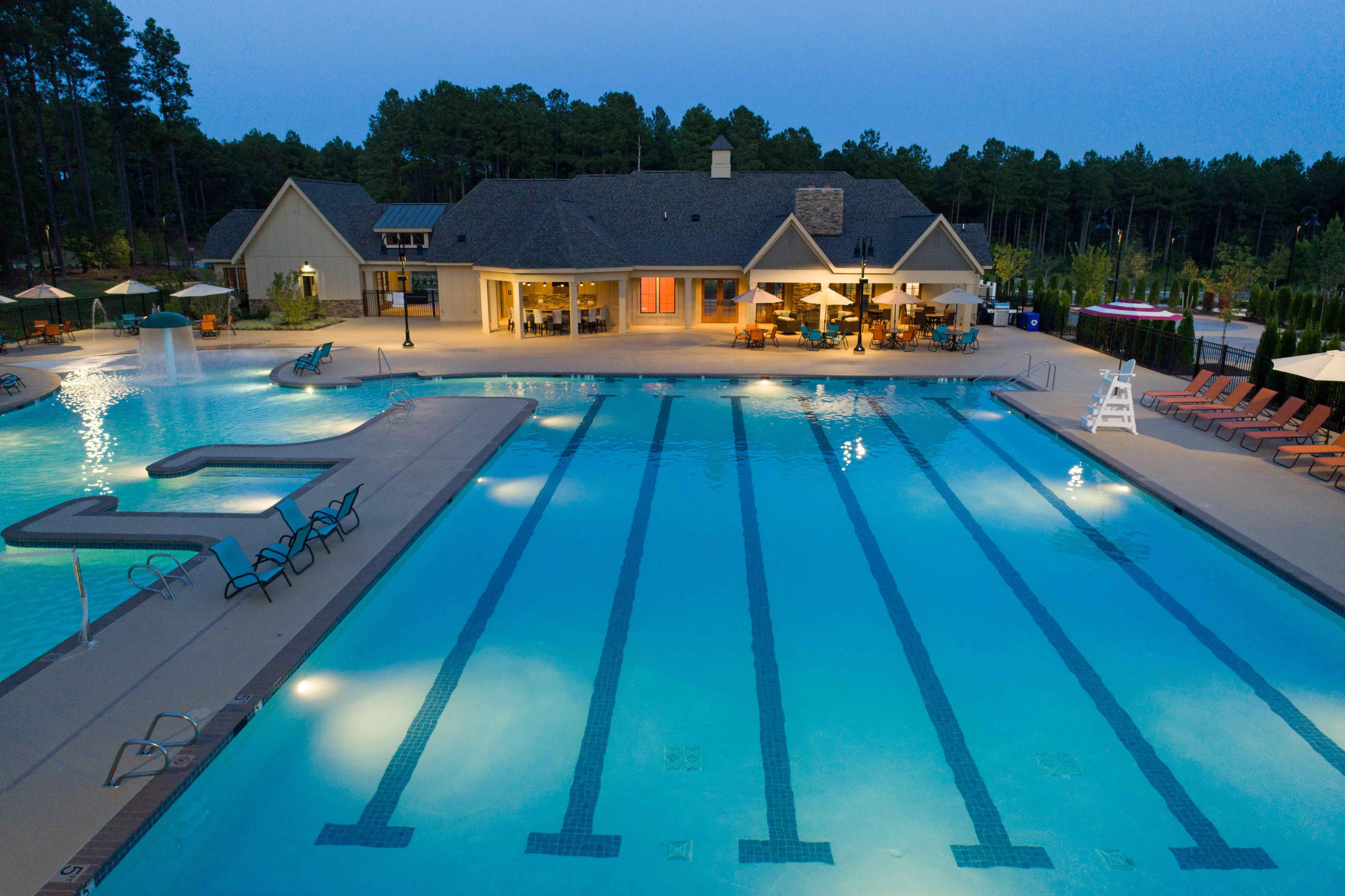 Harpers Mill Nighttime Pool