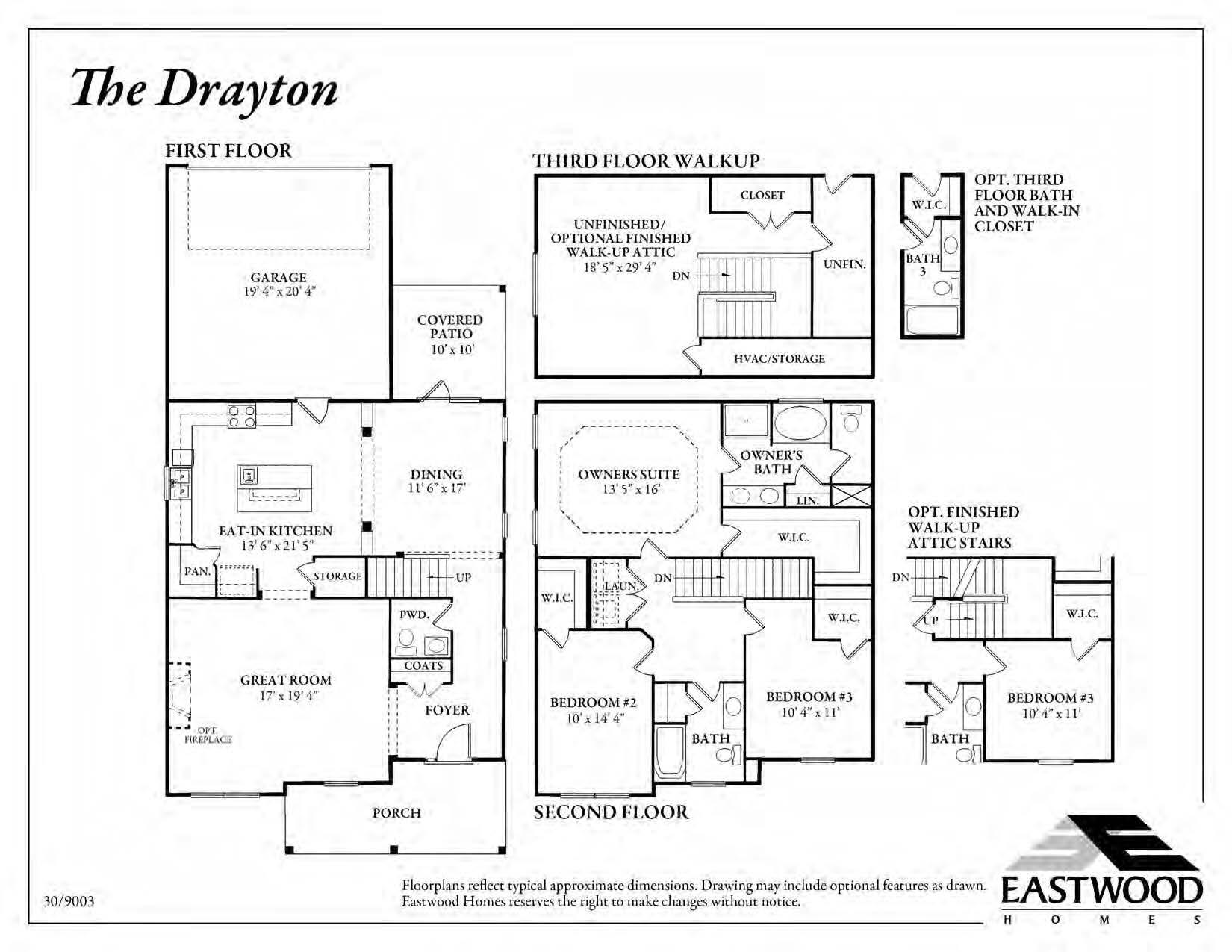Drayton Floor Plan Harborside At Lake Carolina Dont Delete Eastwood Homes