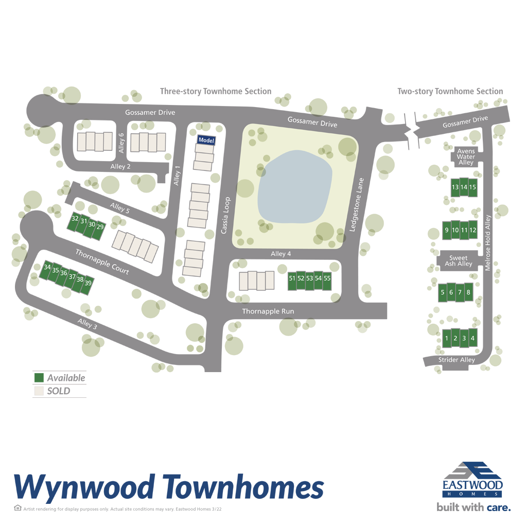 Wynwood at FoxCreek Townhomes Site Plan