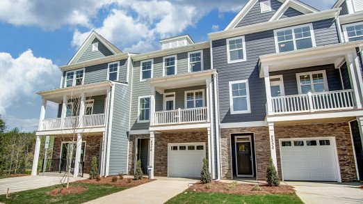The exterior of the Brantley townhome